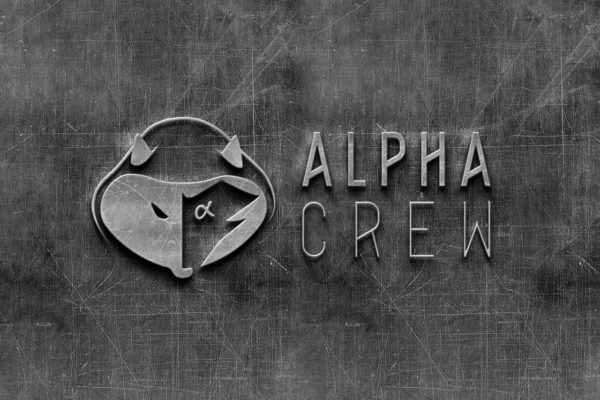 Alpha crew logo metal