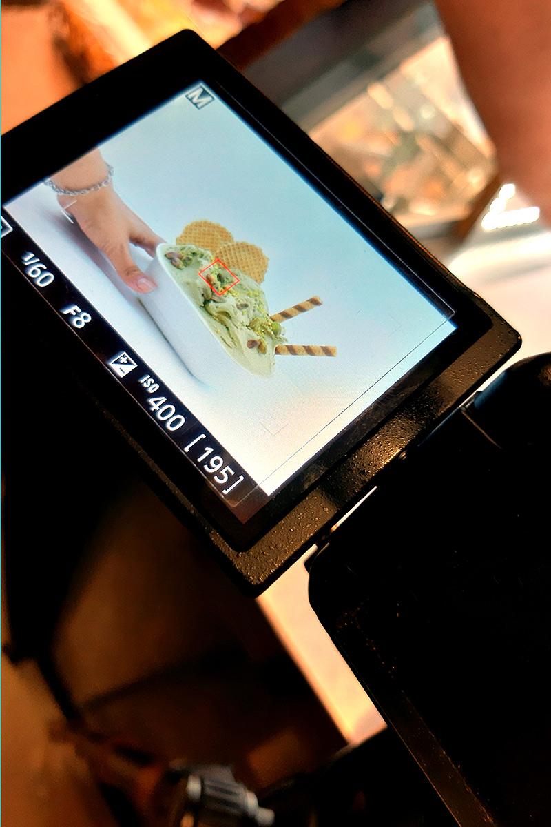 gelateria lele's shooting fotografico dettagli