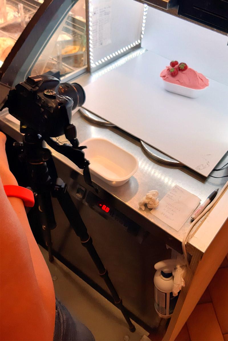 gelateria lele's shooting fotografico