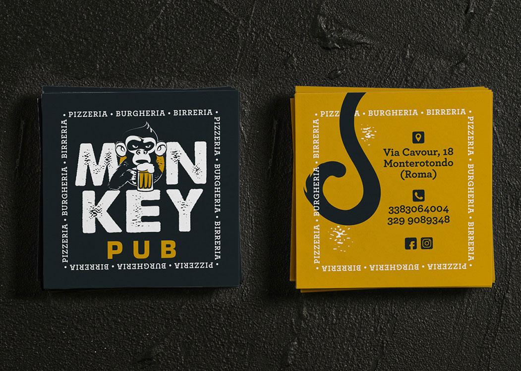 Monkey Pub biglietti da visita