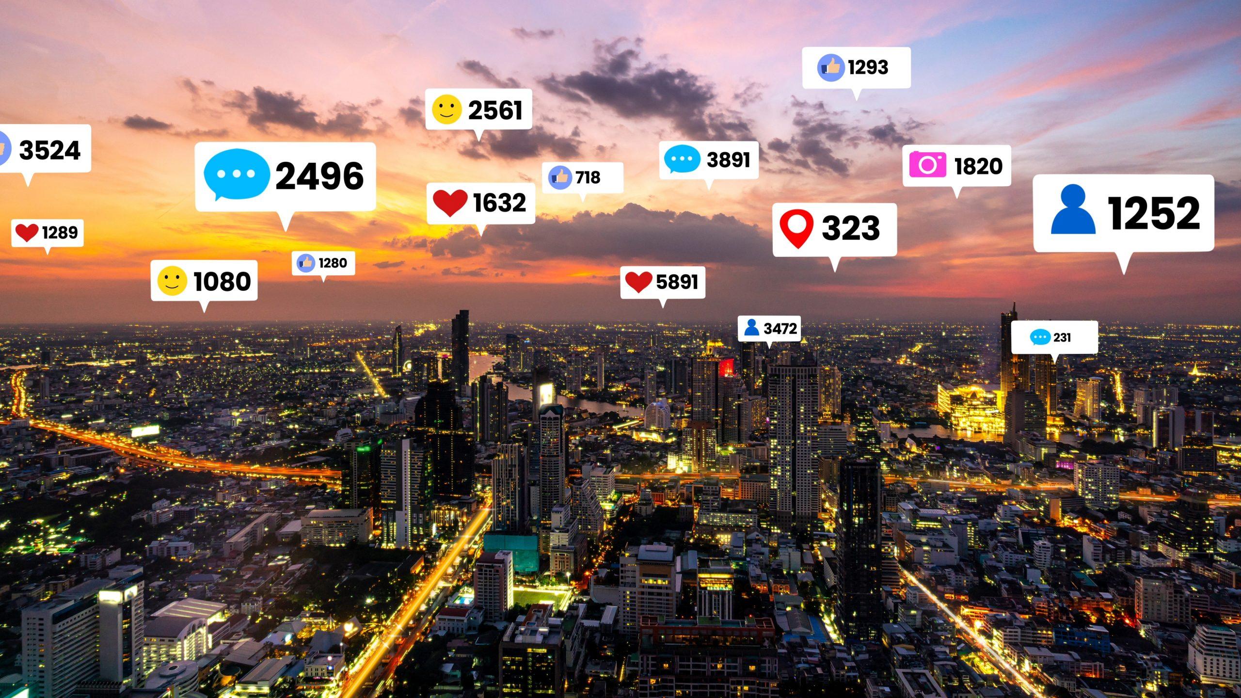 gestione social media like